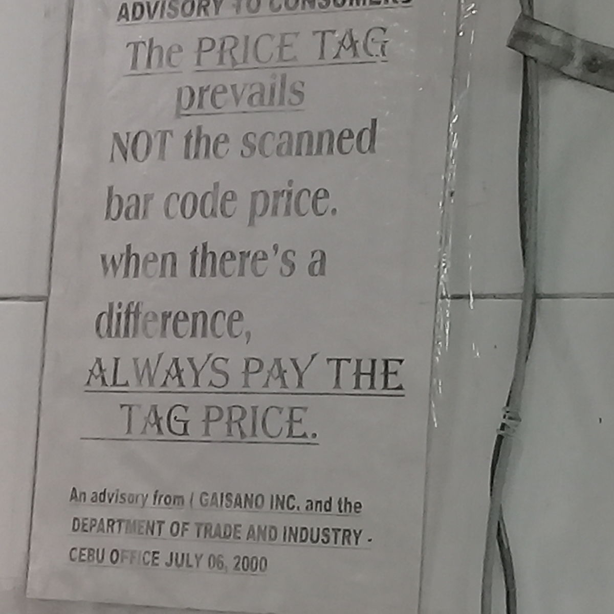 Price Tag Law Same Here As In Us Off Topic Living Cebu Forums Wiring Number Tags 20180531 1348501